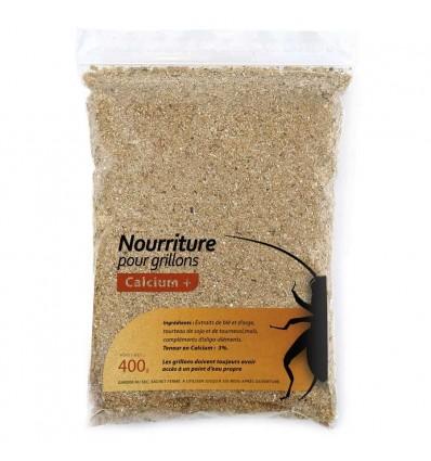 Alimentation sèche Calcium+ pour grillons (400g)