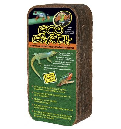 Litière fibre de coco 8L Eco Earth de ZooMed pour terrarium tropical