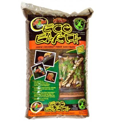 Litière fibre de coco 8,8L Eco Earth de ZooMed pour terrarium tropical