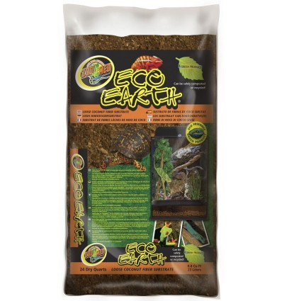 Litière fibre de coco 23L Eco Earth de ZooMed pour terrarium tropical