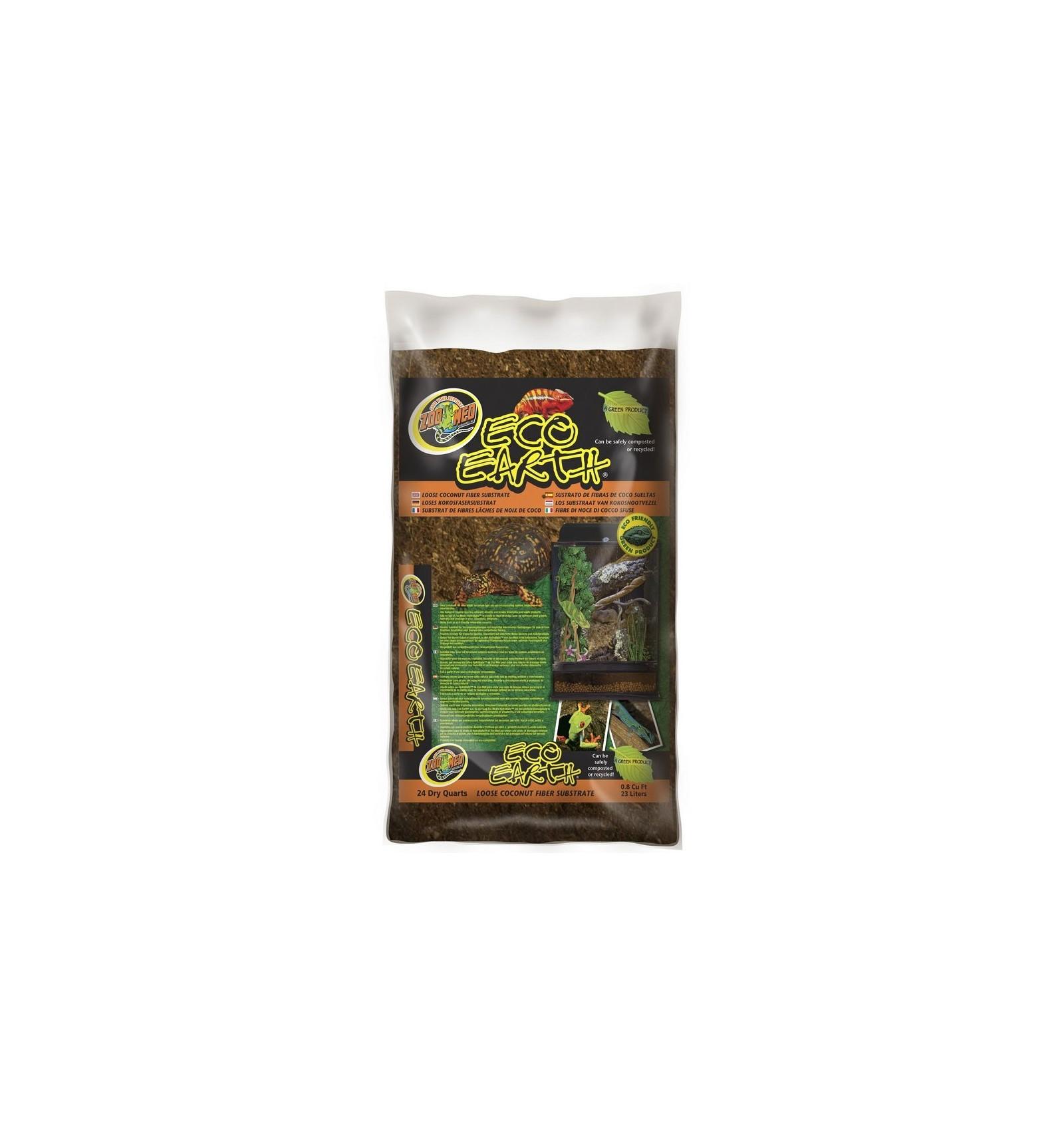 Paillis Noix De Coco litière fibre de coco 23l eco earth de zoomed pour terrarium tropical