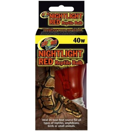 Lampe nocturne rouge 40W Zoo Med pour terrarium