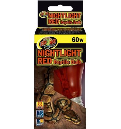Lampe nocturne rouge 60W Zoo Med pour terrarium