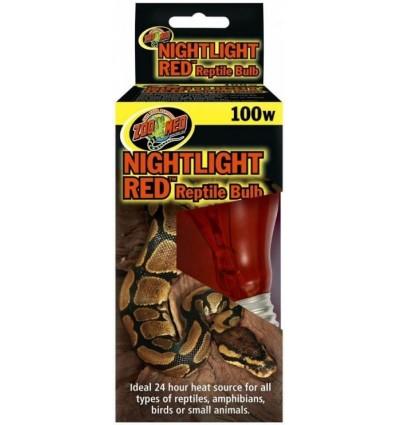 Lampe nocturne rouge 100W Zoo Med pour terrarium