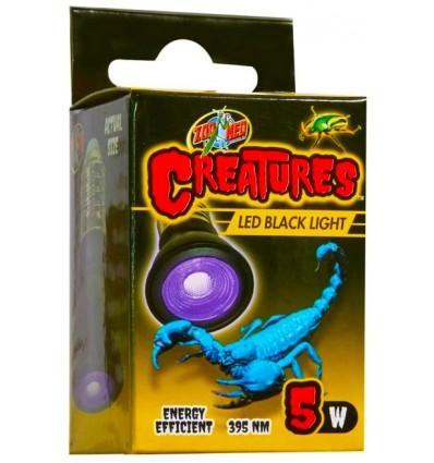 Creatures LED Lumière Noire 5w Zoo Med pour terrarium