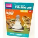 Lampe D3 UV Basking 160w haute performance Arcadia Reptile
